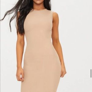 Basic Stone Ribbed Midi Dress Quantity: 1
